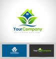 House Logo Leaf vector image