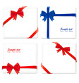 four red and blue bows ribbons vector image