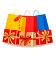 collection of holiday shopping bags and sale vector image