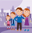 family in the city vector image