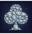 Casino poker element clubs made a lot of diamonds vector image