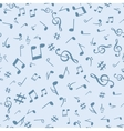 Abstract music notes seamless pattern background vector image
