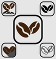 Coffee bean icons set vector image