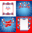 july fourth frames vector image
