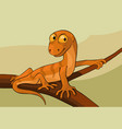 lizard on a branch cartoon vector image