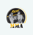 mixed martial arts vector image