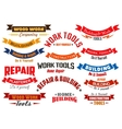 Repair construction carpentry icons set vector image