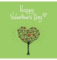 Valentine tree with hearts vector image
