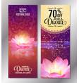 vertical diwali festival offer poster design vector image