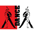 dancing in the red light vector image vector image