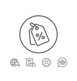 shopping tags line icon special offer sign vector image vector image