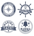 Set of Nautical Yacht badges vector image