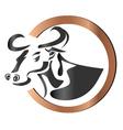 Farm cow logo vector image vector image