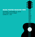 Guitar Text Neck Square vector image vector image