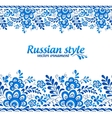 Blue floral borders in Russian gzhel style vector image