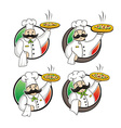 Chef pizza vector image