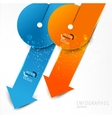 Colorful paper arrows on white background template vector image