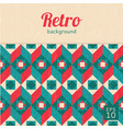 geometric abstract background retro style vector image
