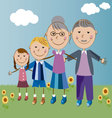 grandparents and grandchildren vector image