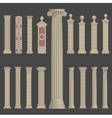 pillar column roman greek architecture vector image