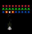 pixel space invader game vector image
