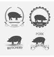 Set of pork label vector image