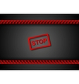 Stop sign and red danger tape design vector image
