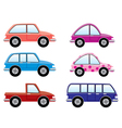 colorful cars vector image vector image