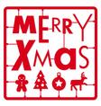 Christmas card Typography and icons christmas ki vector image vector image