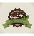 Old round retro vintage grunge label for organic vector image vector image