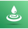 drop cream white droplet paint water rain sweat vector image