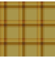 Seamless brown tartan pattern fabric vector image