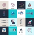 Nanotechnology applications products flat icons vector image