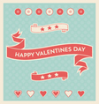 Happy Valentines Day design elements background vector image vector image