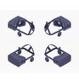 Isometric virtual reality headset vector image