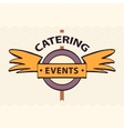 logo restaurant cafe for exclusive events vector image