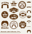 Mustache Labels vector image vector image