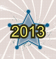 star and 2013 new year background design vector image vector image