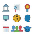 business and education infographic vector image