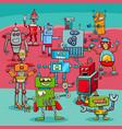 cartoon robot fantasy characters vector image