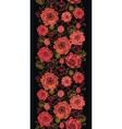 Red and black poppy flowers vertical seamless vector image