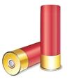 shotgun shell on white background vector image