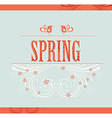 Spring word flowers and birds vector image