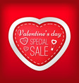 valentines day special sale vector image