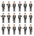 young businessman set vector image