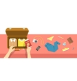 Packing bag for travel vacation flat vector image