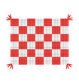 picnic blanket isolated vector image