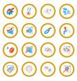 seo 16 cartoon icon circle vector image