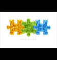 cooperation teamwork concept made from people vector image vector image