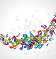 abstract music notes vector image vector image